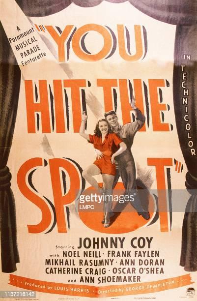 You Hit The Spot, poster, US poster art, from left: Noel Neill, Johnny Coy, 1945.