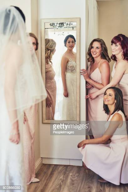 you look amazing! - bridesmaid stock pictures, royalty-free photos & images