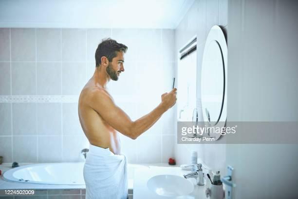 Guy bathroom selfies