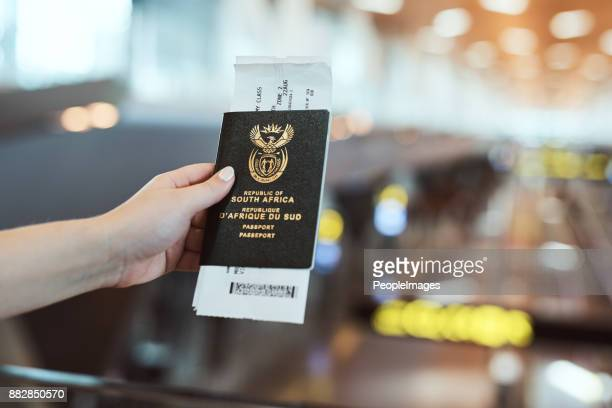 you need an id if you want to travel - passport stamp stock photos and pictures