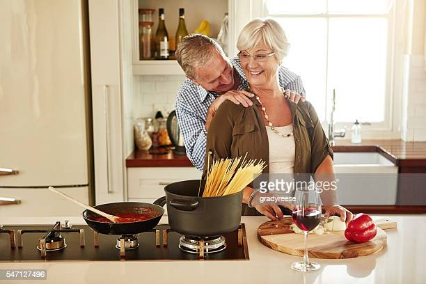 you still know how to work these shoulders - husband massage wife stock photos and pictures