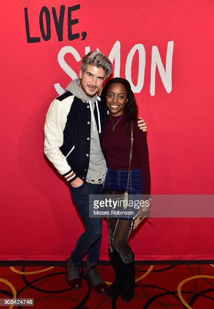 "You Tube star Joey Graceffa and Rita Douglas attend as YouTuber Joey Graceffa Introduces ""Love, Simon"" in Atlanta with Author Becky Albertalli and..."