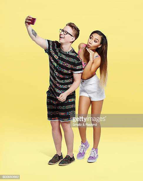 You Tube star Tyler Oakley is photographed with Eva Gutowski for Wonderwall on April 11 2016 in Los Angeles California