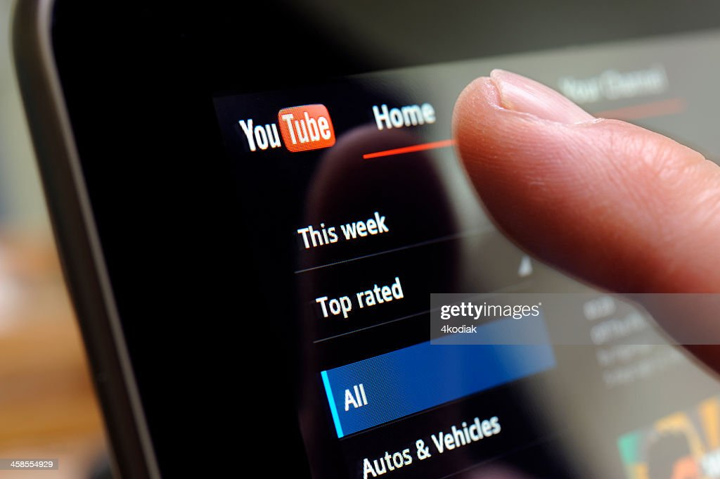 You Tube Web Site on Tablet PC : Stock Photo