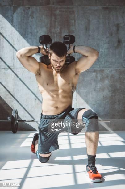 você quer resultados, treina como ele - flexionando perna - fotografias e filmes do acervo