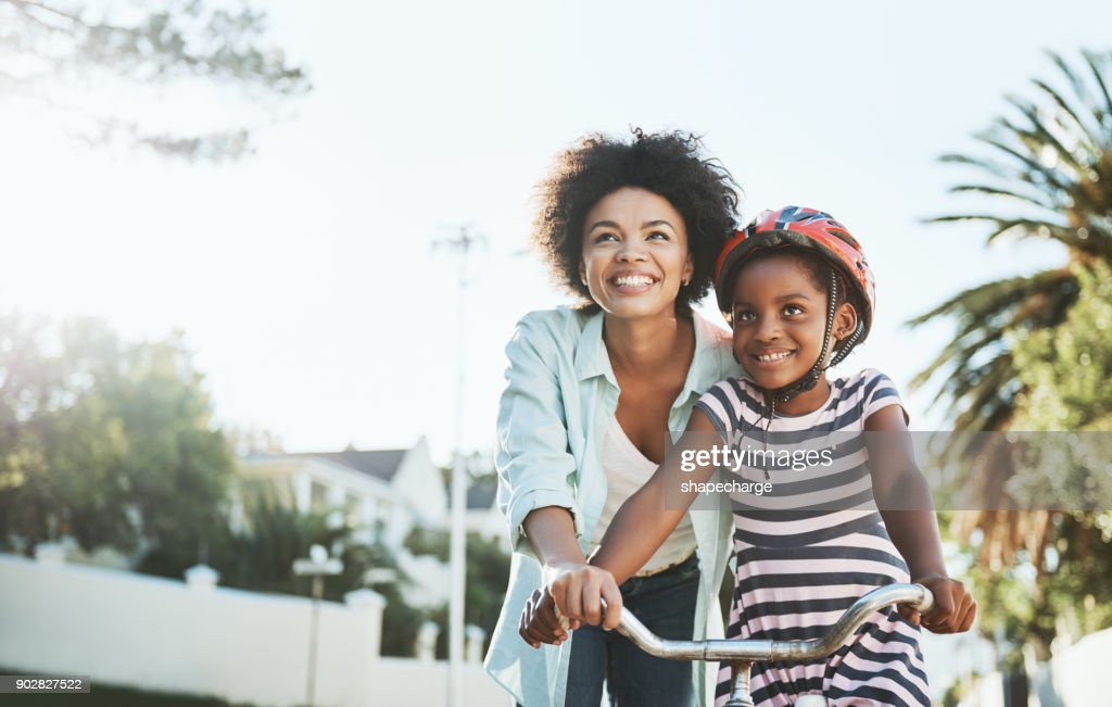 You will see it's easy to ride a bicycle : Stock Photo