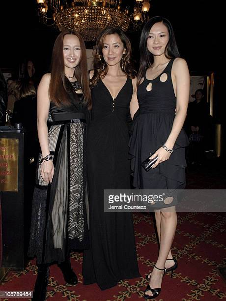 Youki Kodoh Michelle Yeoh and Ziyi Zhang during 'Memoirs of a Geisha' New York City Premiere Inside Arrivals at Ziegfeld Theater in New York City New...