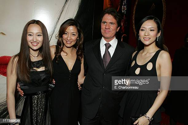 Youki Kudoh Michelle Yeoh Rob Marshall Director and Ziyi Zhang