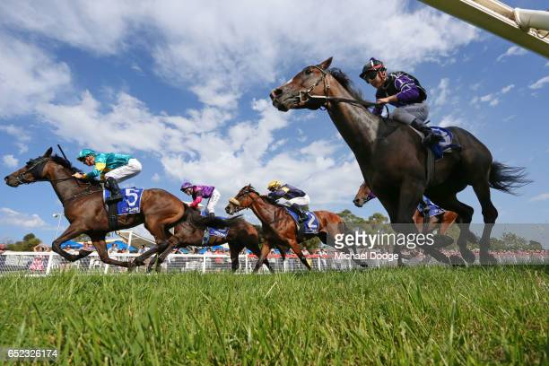 Youl Dash for Cash ridden by Jye McNeil wins Ladbrokes Stony Creek Cup at Stony Creek Racecourse on March 12 2017 in Stony Creek Australia
