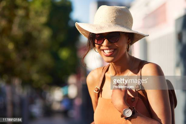 you'll always have fun in the sun - sun hat stock pictures, royalty-free photos & images