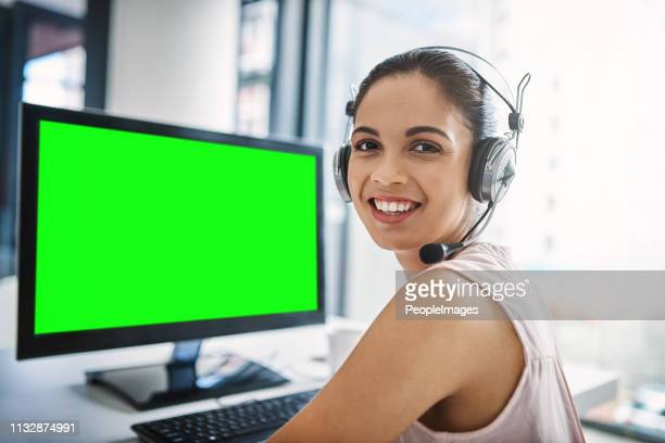 you'll be pleased you dialled our number - hands free device stock pictures, royalty-free photos & images