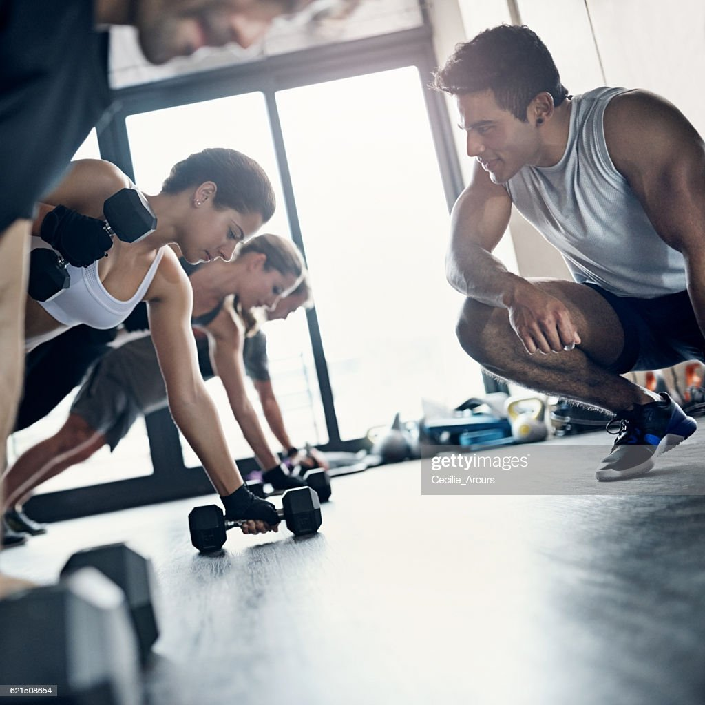 Youll Get A More Intense Workout When Joining Group Stock Photo