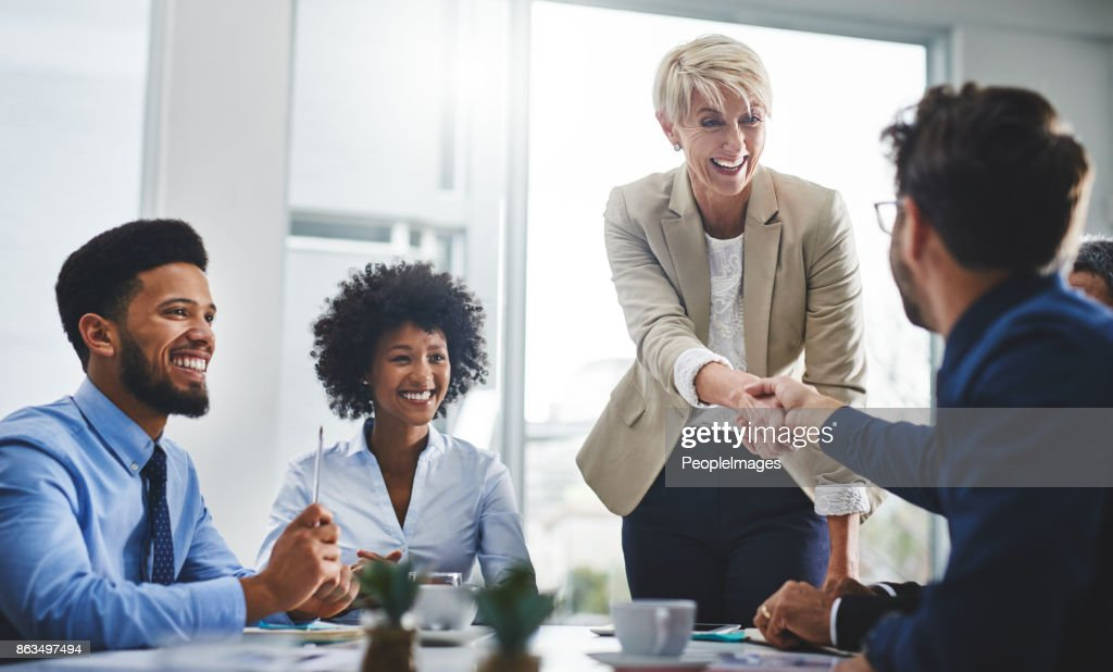 You'll love the togetherness of our team : Stock Photo