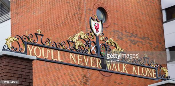 you'll never walk alone - liverpool f.c. photos stock pictures, royalty-free photos & images