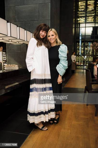 Youn-A and Tory Burch attends the Tory Burch Ginza Boutique Opening After Party on April 02, 2019 in Tokyo, Japan.