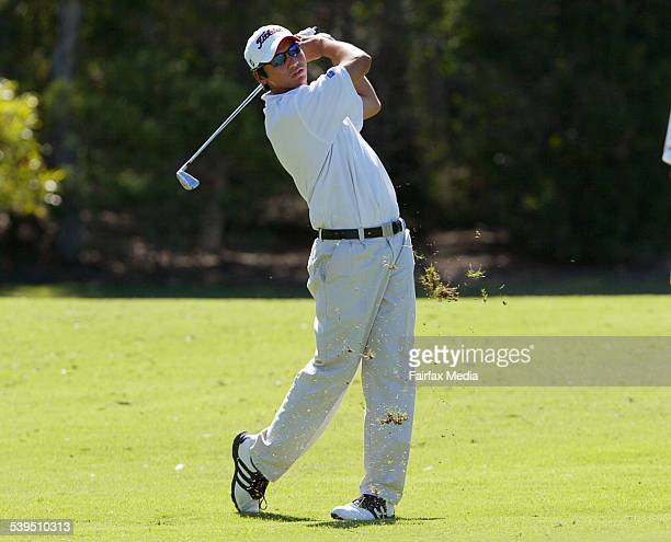 Yound rising star and amatuer golfer Jason Day in action at the Emerald Lakes Golf Classic on Queensland's Gold Coast 12 November 2004 SHD Picture by...