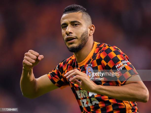 Younes Belhanda of Galatasaray AS during the Turkish Spor Toto Super Lig match between Galatasaray SK and Fenerbahce AS at the Turk Telekom Arena on...