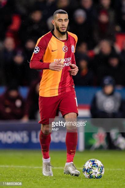 Younes Belhanda of Galatasaray AS during the UEFA Champions League group A match between Paris St Germain and Galatasaray AS at at the Parc des...