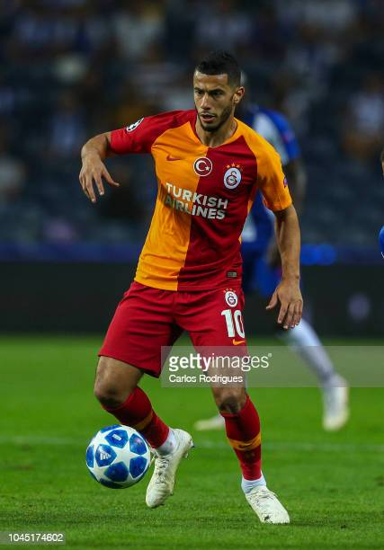 Younes Belhanda of Galatasaray during the Group D match of the UEFA Champions League between FC Porto and Galatasaray at Estadio do Dragao on October...