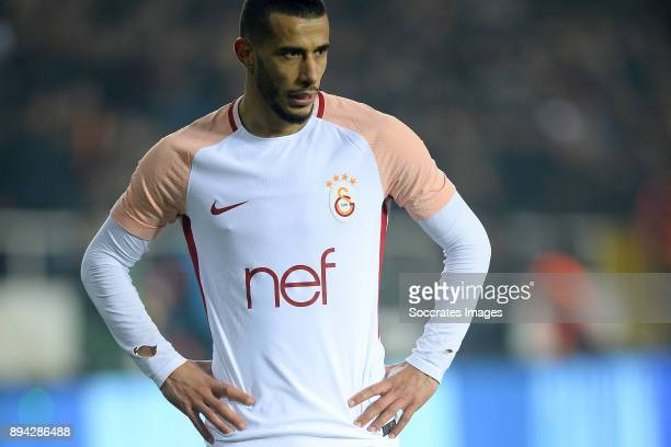 Younes Belhanda of Galatasaray during the Turkish Super lig match between Malatyaspor v Galatasaray at the Malatya Arena on December 17 2017 in...