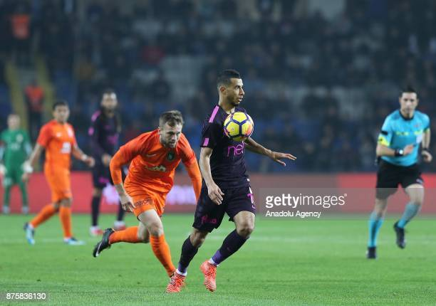Younes Belhanda of Galatasaray in action during a Turkish Super Lig soccer match between Medipol Basaksehir and Galatasaray at the Fatih Terim...