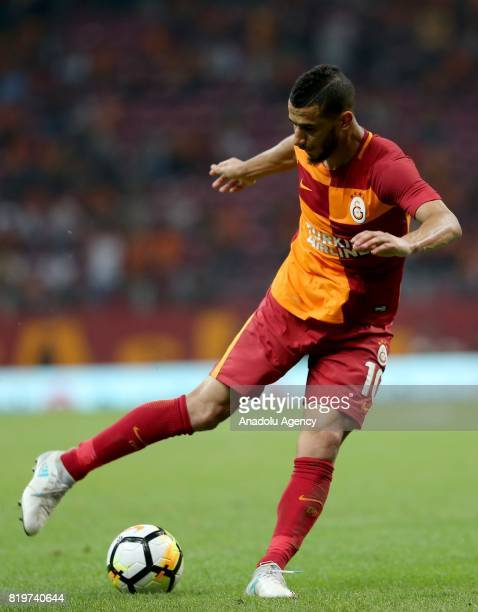 Younes Belhanda of Galatasaray in action during the UEFA Europa League second qualifying round return match between Galatasaray and Ostersund FK at...