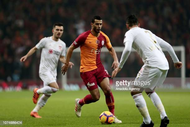 Younes Belhanda of Galatasaray in action during Turkish Super Lig week 17 soccer match between Galatasaray and Demir Grup Sivasspor at Turk Telekom...
