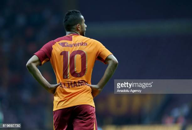 Younes Belhanda of Galatasaray is seen during the UEFA Europa League second qualifying round return match between Galatasaray and Ostersund FK at...