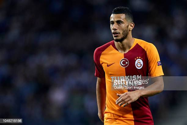 Younes Belhanda of Galatasaray looks on during the Group D match of the UEFA Champions League between FC Porto and Galatasaray at Estadio do Dragao...