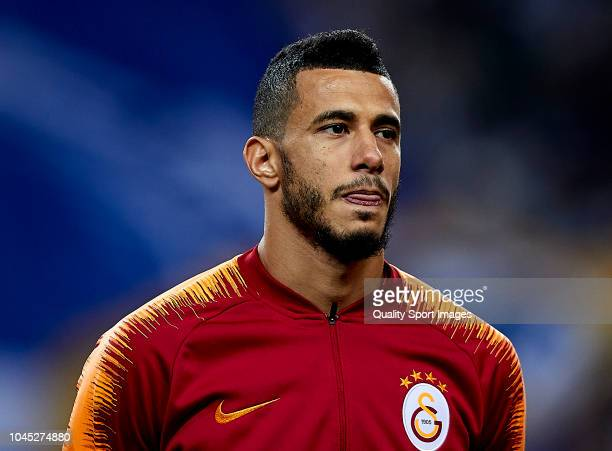 Younes Belhanda of Galatasaray looks on prior to the Group D match of the UEFA Champions League between FC Porto and Galatasaray at Estadio do Dragao...
