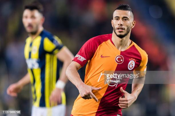 Younes Belhanda of Galatasaray SK during the Turkish Spor Toto Super Lig football match between Fenerbahce AS and Galatasaray AS at the Sukru...