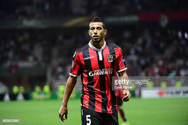 Younes Belhanda of Nice during the Europa League match between Nice and Schalke 04 at Allianz Riviera Stadium on September 15 2016 in Nice France