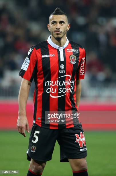 Younes Belhanda of Nice looks on during the French Ligue 1 match between OGC Nice and Monptellier Herault SC at Allianz Riviera stadium on February...