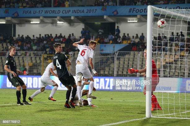 Younes Delfi of Iran scores his second goal during the FIFA U17 World Cup India 2017 group C match between Iran and Germany at Pandit Jawaharlal...