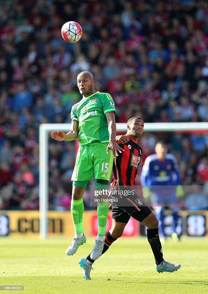 Younes Kaboul of Sunderland during the Barclays Premier League match between Bournemouth and Sunderland at the Vitality Stadium on September 19, 2015 in Bournemouth, England.