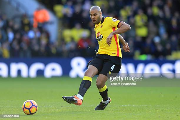 Younes Kaboul of Watford in action during the Premier League match between Watford and Crystal Palace at Vicarage Road on December 26 2016 in Watford...