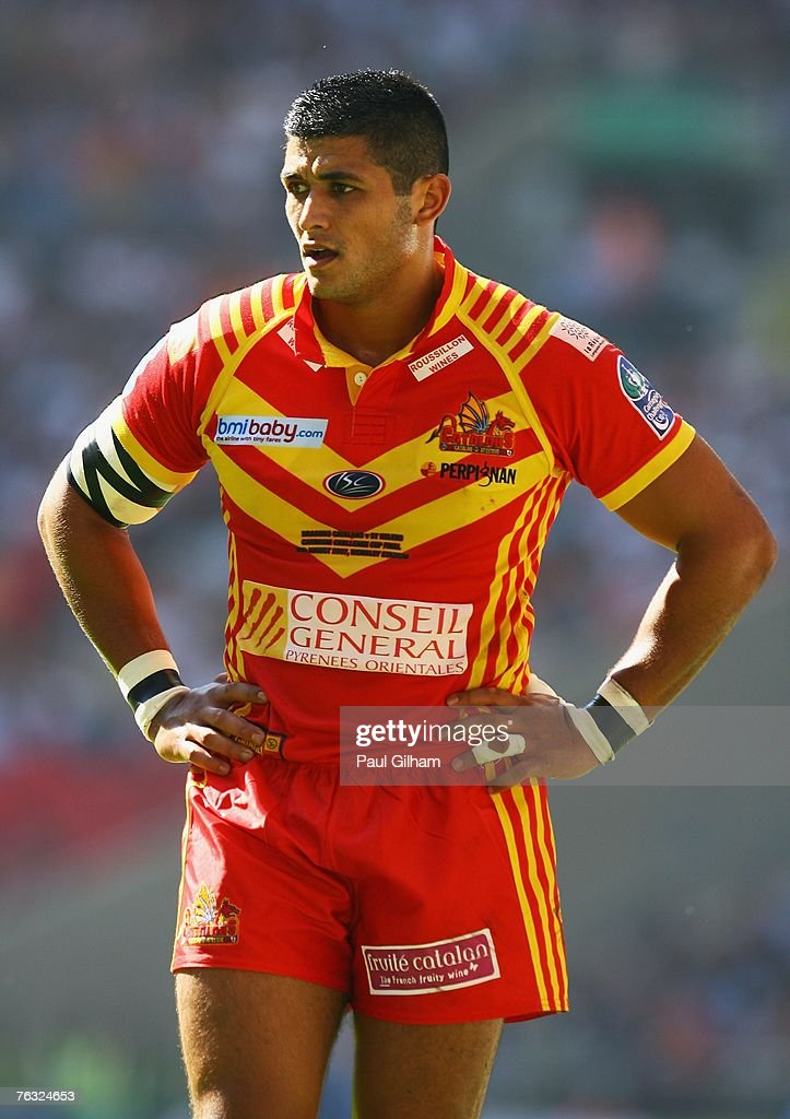Younes Khattabi of Catalans looks on during the Carnegie Challenge Cup Final between St.Helens and Catalans Dragons at Wembley stadium on August 25, 2007 in London, England.