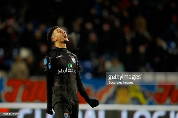 Younes Namli of PEC Zwolle celebrates the victory during the Dutch Eredivisie match between Willem II v PEC Zwolle at the Koning Willem II Stadium on...