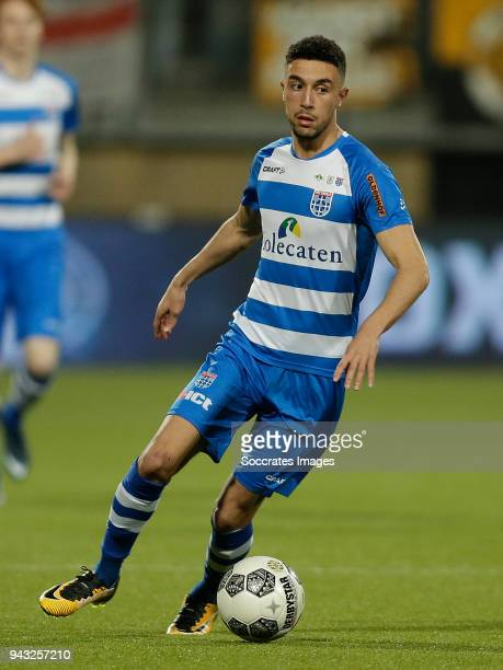 Younes Namli of PEC Zwolle during the Dutch Eredivisie match between Roda JC v PEC Zwolle at the Parkstad Limburg Stadium on April 7 2018 in Kerkrade...