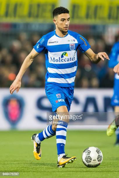 Younes Namli of PEC Zwolle during the Dutch Eredivisie match between PEC Zwolle and sbv Excelsior Rotterdam at the MAC3Park stadium on April 14 2018...
