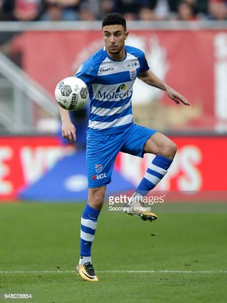 Younes Namli of PEC Zwolle during the Dutch Eredivisie match between Fc Twente v PEC Zwolle at the De Grolsch Veste on April 17 2018 in Enschede...