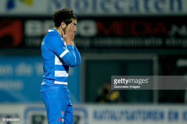 Youness Mokhtar of PEC Zwolle during the Dutch Eredivisie match between PEC Zwolle v Ajax at the MAC3PARK Stadium on February 18, 2018 in Zwolle...