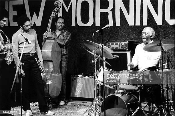 A young 19 year old Wynton Marsalis performing with Art Blakey The Jazz Messengers at the New Morning Club Geneva Switzerland in March 1981 Left to...