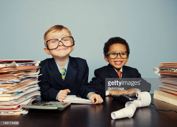 young accountants - educational subject stock photos and pictures