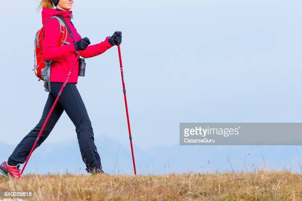Young Active Woman Walking On The Plateau