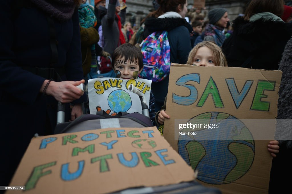 Children's Rally For Climate In Dublin : News Photo