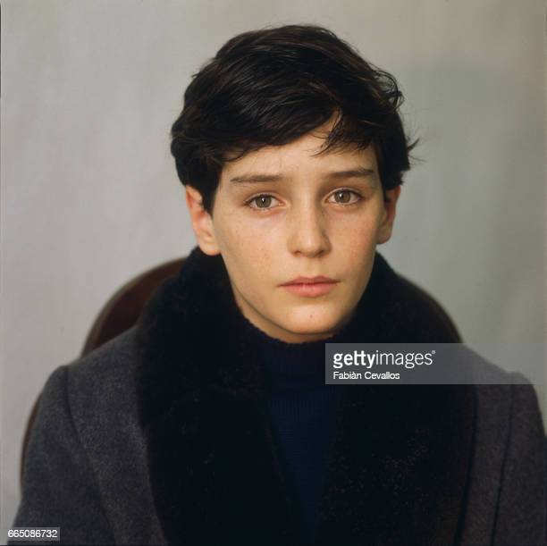 Young actor David Eberts poses for a portrait during the shooting of the 1988 movie Burning Secret or Brennendes Geheimnis in German Directed by...