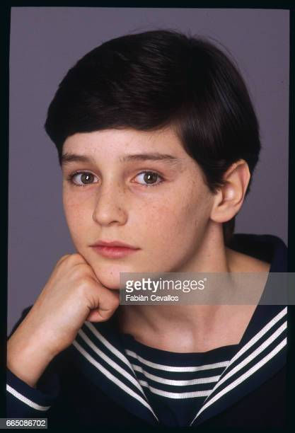 Young actor David Eberts poses for a portrait in a studio during the shooting of the 1988 movie Burning Secret or Brennendes Geheimnis in German...