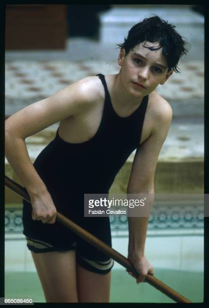 Young actor David Eberts poses for a portrait on the set of the 1988 movie Burning Secret or Brennendes Geheimnis in German Directed by British...