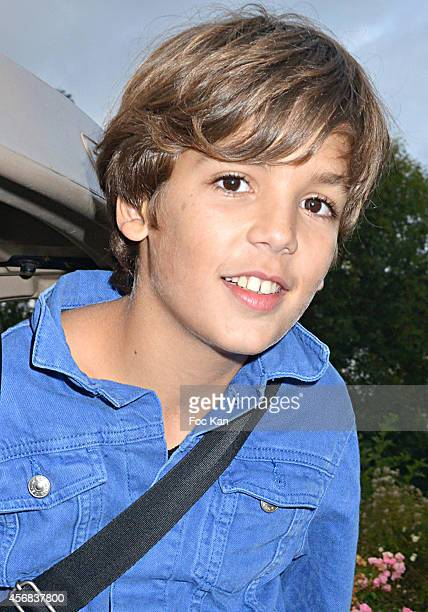 Young actor Enzo Tomasini attends the 'Tee Break Gourmand' Auction Golf Competition hosted by Matrix to benefit SOS Gazelles at the Golf d' Etiolles...